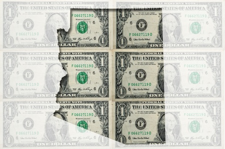 Outlined arizona map of  with transparent background of US dollar banknotes Stok Fotoğraf