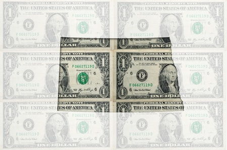 Outlined map of north dakota with transparent background of US dollar banknotes Reklamní fotografie