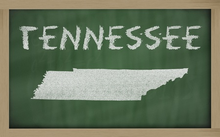 drawing of tennessee state on chalkboard, drawn by chalk photo