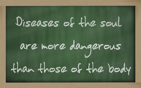 """Blackboard geschriften 'Discretie is het betere deel van moed """""""