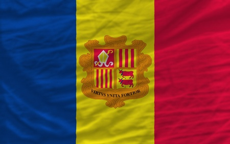 piktogramm: complete national flag of andorra covers whole frame, waved, crunched and very natural looking. It is perfect for background