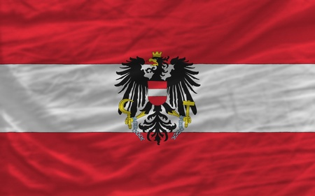 complete national flag of austria covers whole frame, waved, crunched and very natural looking. It is perfect for background photo