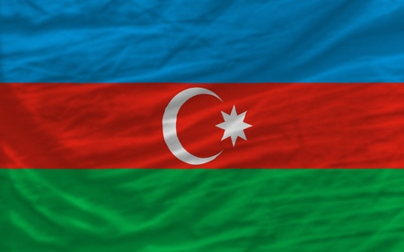 piktogramm: complete national flag of azerbaijan covers whole frame, waved, crunched and very natural looking. It is perfect for background