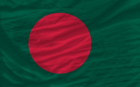 piktogramm: complete national flag of bangladesh covers whole frame, waved, crunched and very natural looking. It is perfect for background