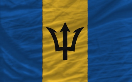 piktogramm: complete national flag of barbados covers whole frame, waved, crunched and very natural looking. It is perfect for background