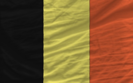 piktogramm: complete national flag of belgium covers whole frame, waved, crunched and very natural looking. It is perfect for background Stock Photo