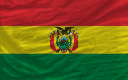 piktogramm: complete national flag of bolivia covers whole frame, waved, crunched and very natural looking. It is perfect for background Stock Photo