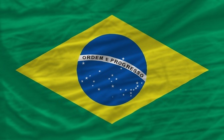 piktogramm: complete national flag of brazil covers whole frame, waved, crunched and very natural looking. It is perfect for background