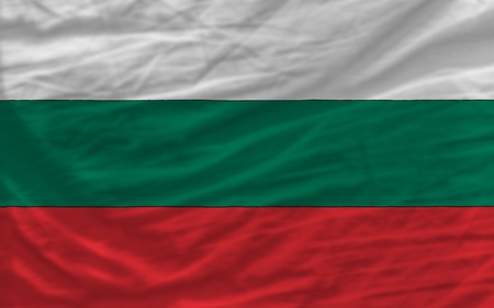piktogramm: complete national flag of bulgaria covers whole frame, waved, crunched and very natural looking. It is perfect for background