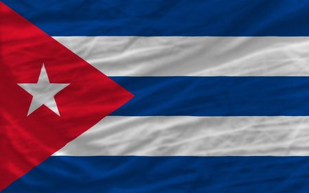 piktogramm: complete national flag of cuba covers whole frame, waved, crunched and very natural looking. It is perfect for background