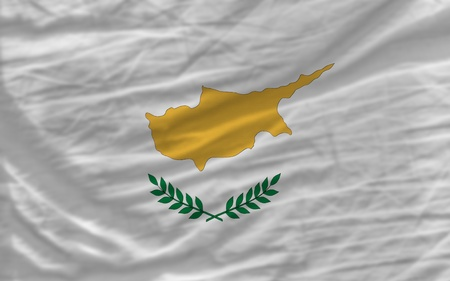 piktogramm: complete national flag of cyprus covers whole frame, waved, crunched and very natural looking. It is perfect for background Stock Photo