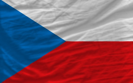 piktogramm: complete national flag of czech covers whole frame, waved, crunched and very natural looking. It is perfect for background Stock Photo