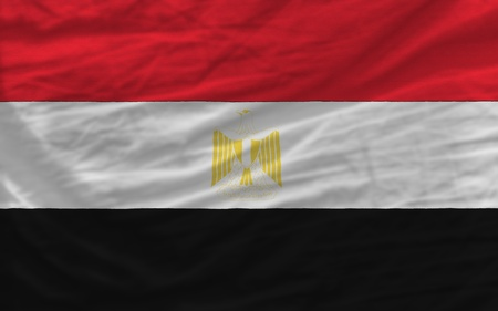 piktogramm: complete national flag of egypt covers whole frame, waved, crunched and very natural looking. It is perfect for background