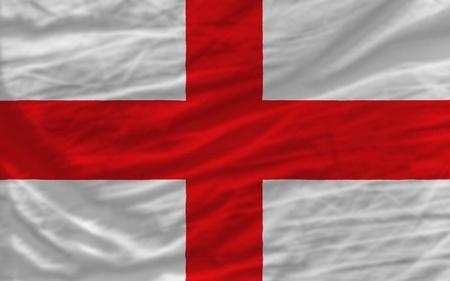 bandera inglesa: bandera nacional completa de inglaterra marco cubre todo, salud� con la mano, cruji� y un aspecto muy natural. Es perfecto para el fondo