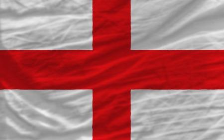 english flag: complete national flag of england covers whole frame, waved, crunched and very natural looking. It is perfect for background Stock Photo