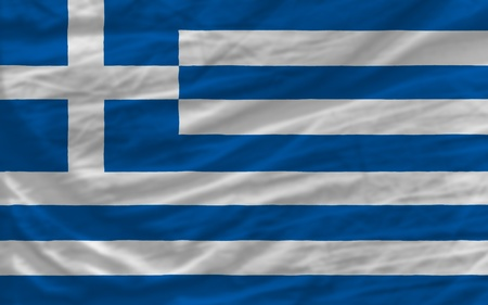 piktogramm: complete national flag of greece covers whole frame, waved, crunched and very natural looking. It is perfect for background Stock Photo