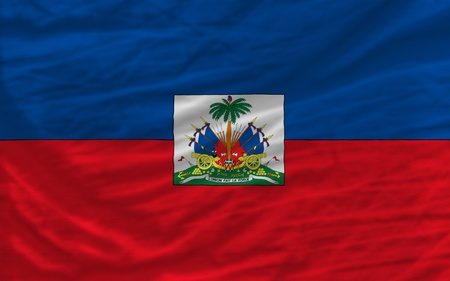 piktogramm: complete national flag of haiti covers whole frame, waved, crunched and very natural looking. It is perfect for background