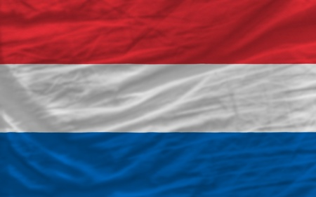 piktogramm: complete national flag of netherlands covers whole frame, waved, crunched and very natural looking. It is perfect for background