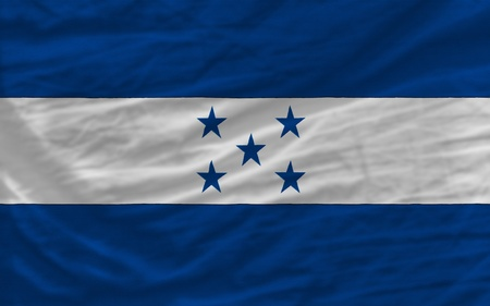 piktogramm: complete national flag of honduras covers whole frame, waved, crunched and very natural looking. It is perfect for background Stock Photo