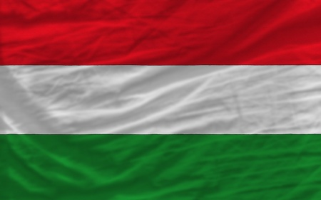 piktogramm: complete national flag of hungary covers whole frame, waved, crunched and very natural looking. It is perfect for background