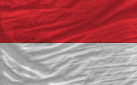 piktogramm: complete national flag of indonesia covers whole frame, waved, crunched and very natural looking. It is perfect for background
