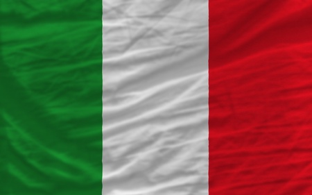 complete national flag of italy covers whole frame, waved, crunched and very natural looking. It is perfect for background photo