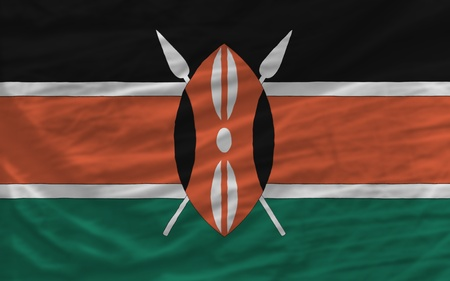 piktogramm: complete national flag of kenya covers whole frame, waved, crunched and very natural looking. It is perfect for background