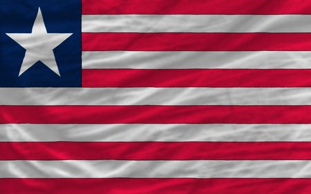 piktogramm: complete national flag of liberia covers whole frame, waved, crunched and very natural looking. It is perfect for background