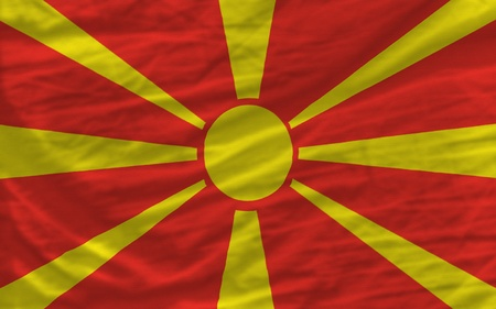 piktogramm: complete national flag of macedonia covers whole frame, waved, crunched and very natural looking. It is perfect for background