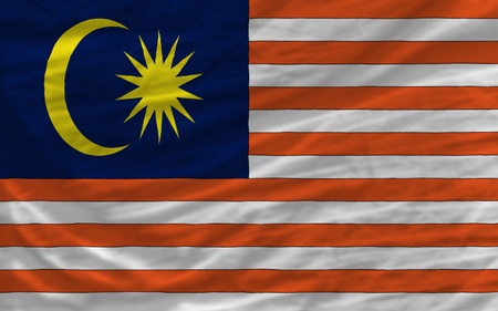 piktogramm: complete national flag of malaysia covers whole frame, waved, crunched and very natural looking. It is perfect for background