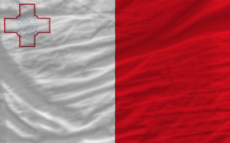 piktogramm: complete national flag of malta covers whole frame, waved, crunched and very natural looking. It is perfect for background Stock Photo