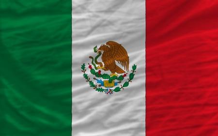 bandera de mexico: la bandera nacional completo de México cubre el bastidor entero, ondulado, crujía y un aspecto muy natural. Es perfecto para el fondo Foto de archivo