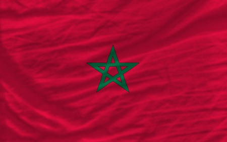 piktogramm: complete national flag of morocco covers whole frame, waved, crunched and very natural looking. It is perfect for background