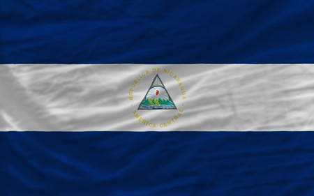 looking for: complete national flag of nicaragua covers whole frame, waved, crunched and very natural looking. It is perfect for background
