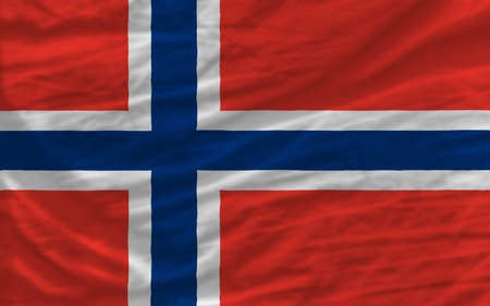 piktogramm: complete national flag of norway covers whole frame, waved, crunched and very natural looking. It is perfect for background Stock Photo