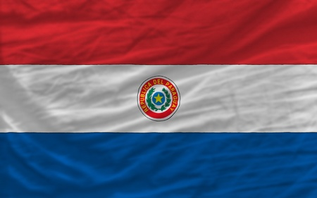 piktogramm: complete national flag of paraguay covers whole frame, waved, crunched and very natural looking. It is perfect for background Stock Photo