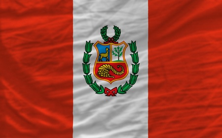 piktogramm: complete national flag of peru covers whole frame, waved, crunched and very natural looking. It is perfect for background