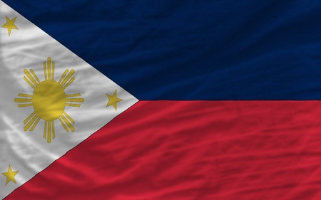 piktogramm: complete national flag of philippines covers whole frame, waved, crunched and very natural looking. It is perfect for background