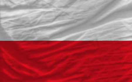 piktogramm: complete national flag of poland covers whole frame, waved, crunched and very natural looking. It is perfect for background Stock Photo