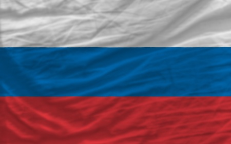 complete national flag of russia covers whole frame, waved, crunched and very natural looking. It is perfect for background Stock Photo - 11939663