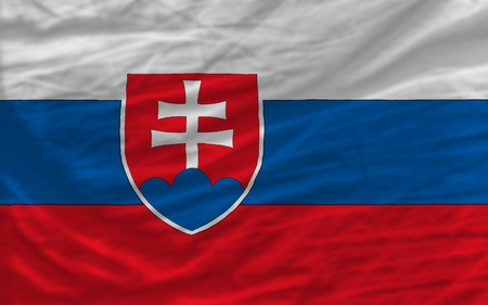 piktogramm: complete national flag of slovakia covers whole frame, waved, crunched and very natural looking. It is perfect for background