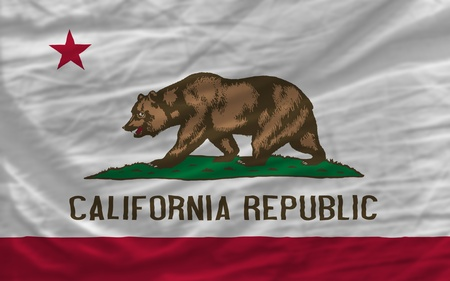 complete flag of us state of california covers whole frame, waved, crunched and very natural looking. It is perfect for background photo