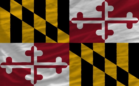 complete flag of us state of maryland covers whole frame, waved, crunched and very natural looking. It is perfect for background photo
