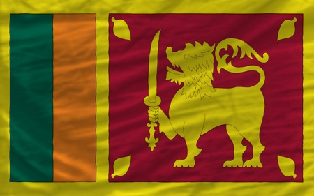 srilanka: complete national flag of srilanka covers whole frame, waved, crunched and very natural looking. It is perfect for background