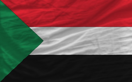 piktogramm: complete national flag of sudan covers whole frame, waved, crunched and very natural looking. It is perfect for background