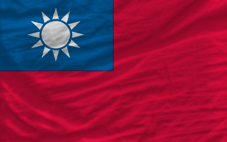 piktogramm: complete national flag of taiwan covers whole frame, waved, crunched and very natural looking. It is perfect for background