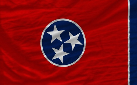 complete: complete flag of us state of tennessee covers whole frame, waved, crunched and very natural looking. It is perfect for background