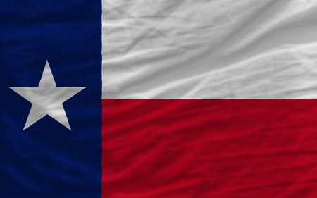 complete flag of us state of texas covers whole frame, waved, crunched and very natural looking. It is perfect for background
