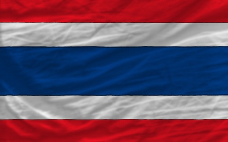 complete national flag of thailand covers whole frame, waved, crunched and very natural looking. It is perfect for background photo
