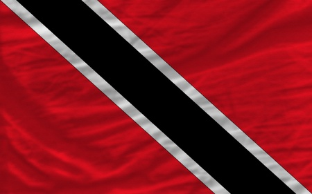 trinidad: complete national flag of trinidad tobago covers whole frame, waved, crunched and very natural looking. It is perfect for background